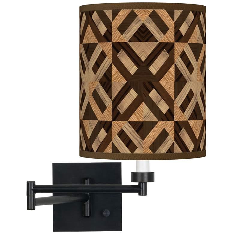 American Woodwork Espresso Bronze Swing Arm Wall Lamp