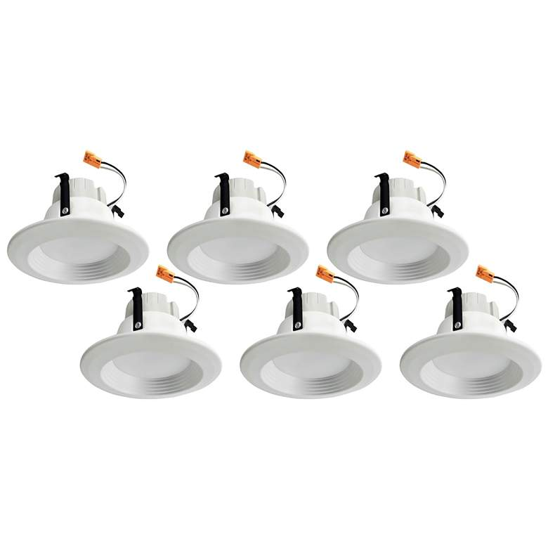"""4"""" Four Color Adjustable 10 Watt LED Retrofit Trims 6-Pack"""