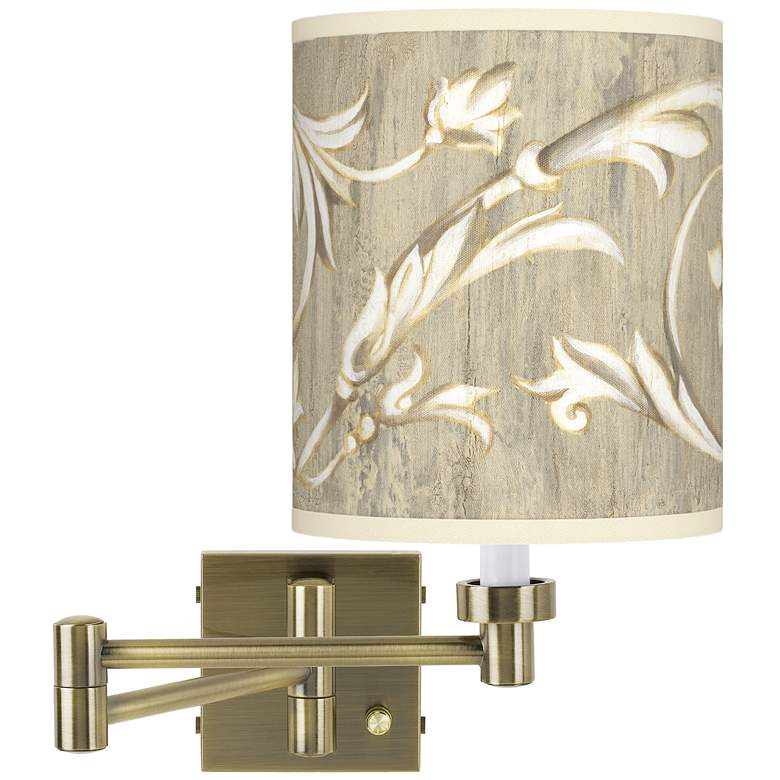 Laurel Court Antique Brass Swing Arm Wall Lamp
