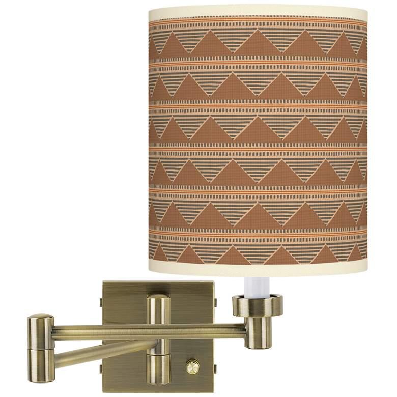 Desert Canyon Antique Brass Swing Arm Wall Lamp