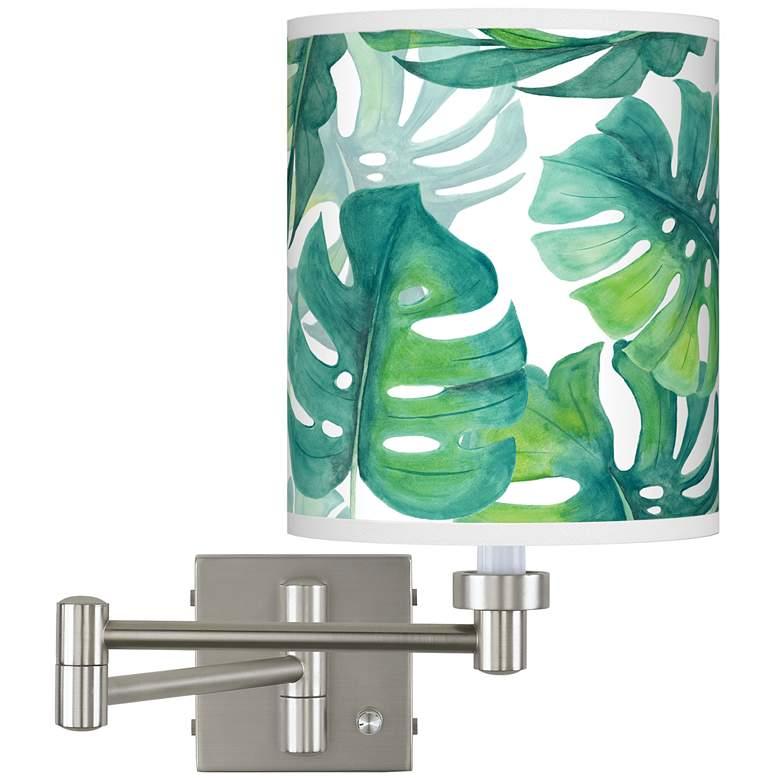Tropica Brushed Nickel Swing Arm Wall Lamp