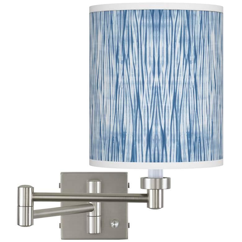 Beachcomb Brushed Nickel Swing Arm Wall Lamp
