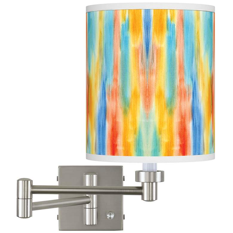Tricolor Wash Brushed Nickel Swing Arm Wall Lamp