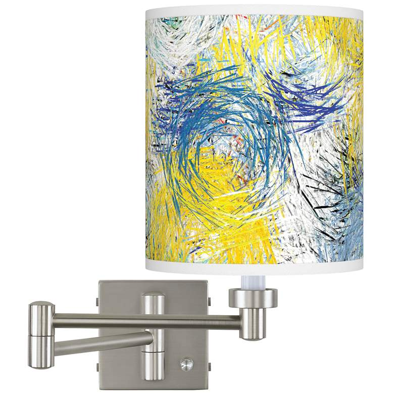 Starry Dawn Brushed Nickel Swing Arm Wall Lamp