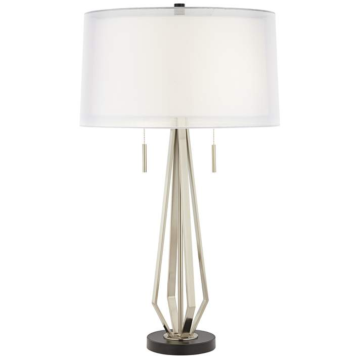 Conner Double Shade Modern Pull Chain, Twin Pull Chain Table Lamp
