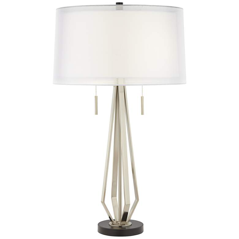Conner Double Shade Modern Pull Chain Table Lamp