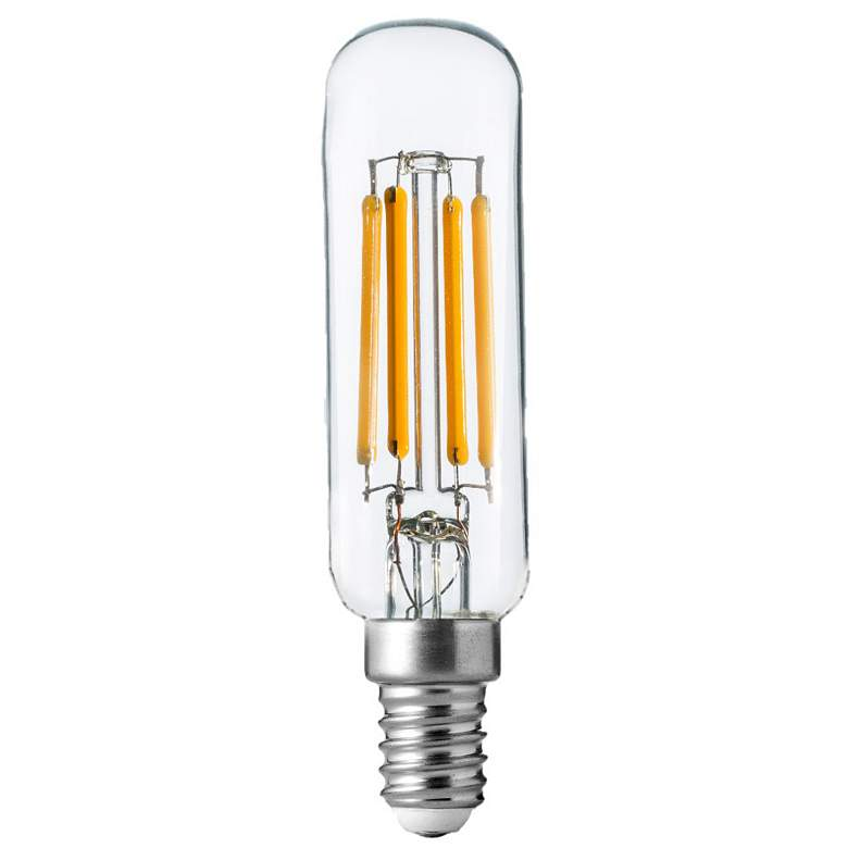 60W Equivalent T8 Clear 5.5W LED Dimmable E12 Base Bulb