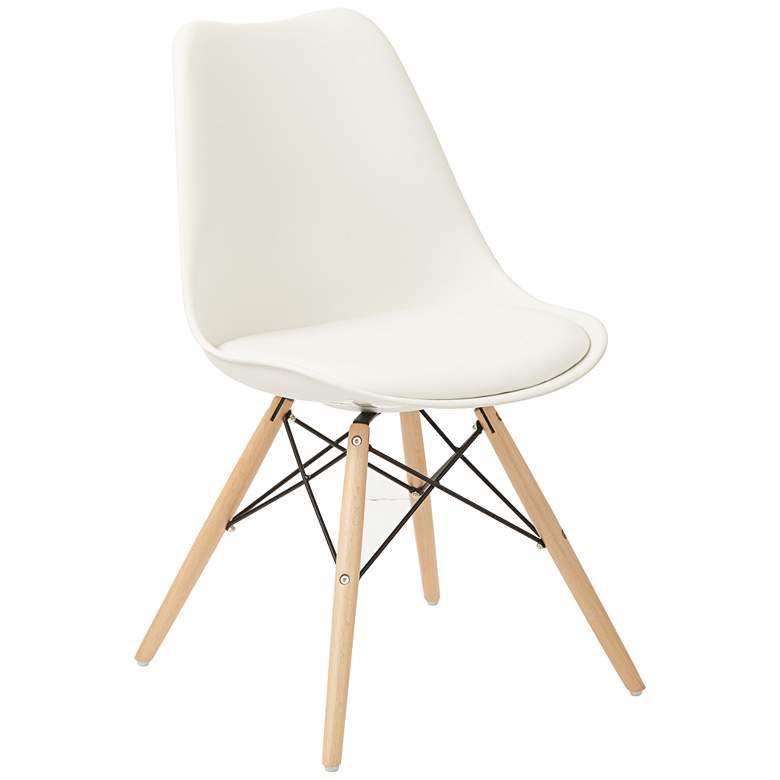 Allen White and Natural Guest Chair