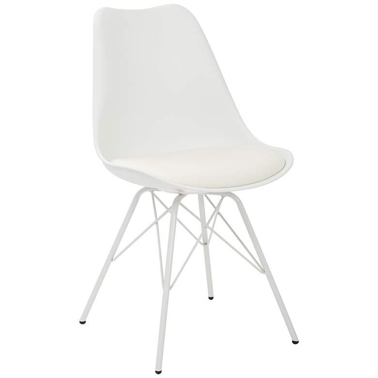 Emerson White Armless Side Chair
