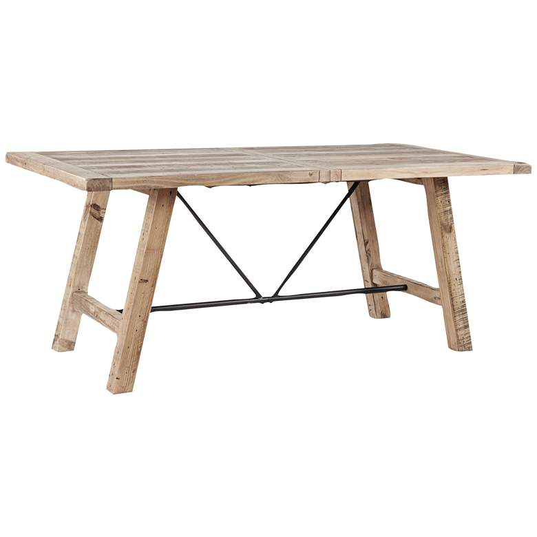 """INK + IVY Sonoma 72""""W Weathered Natural Wood Dining Table"""