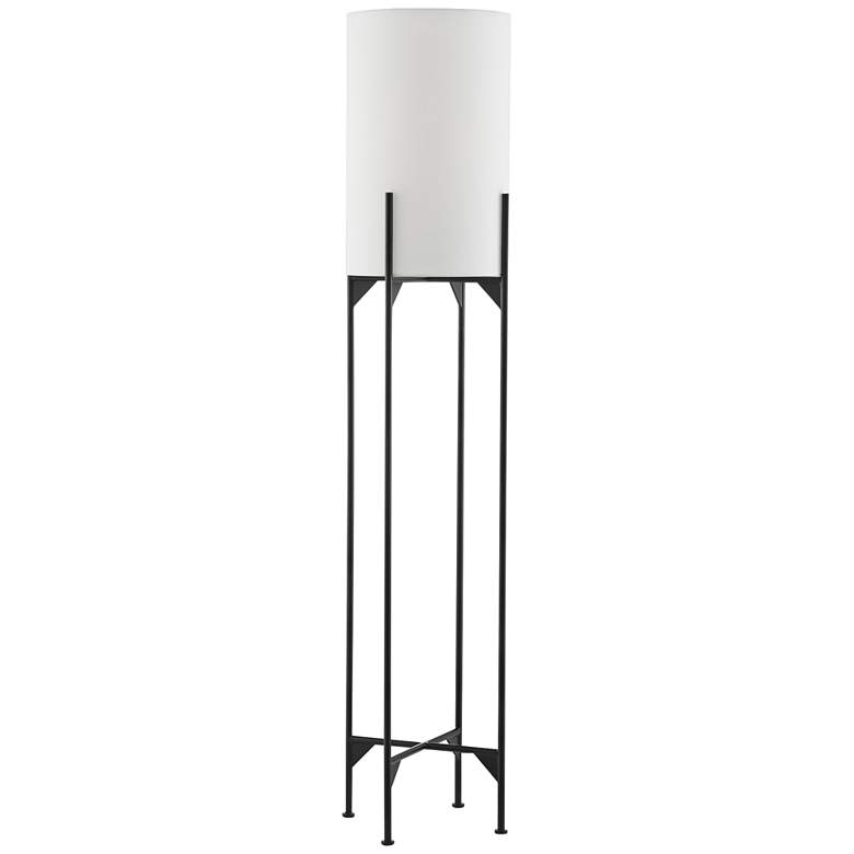 Currey and Company Holland Matte Black Metal Floor Lamp