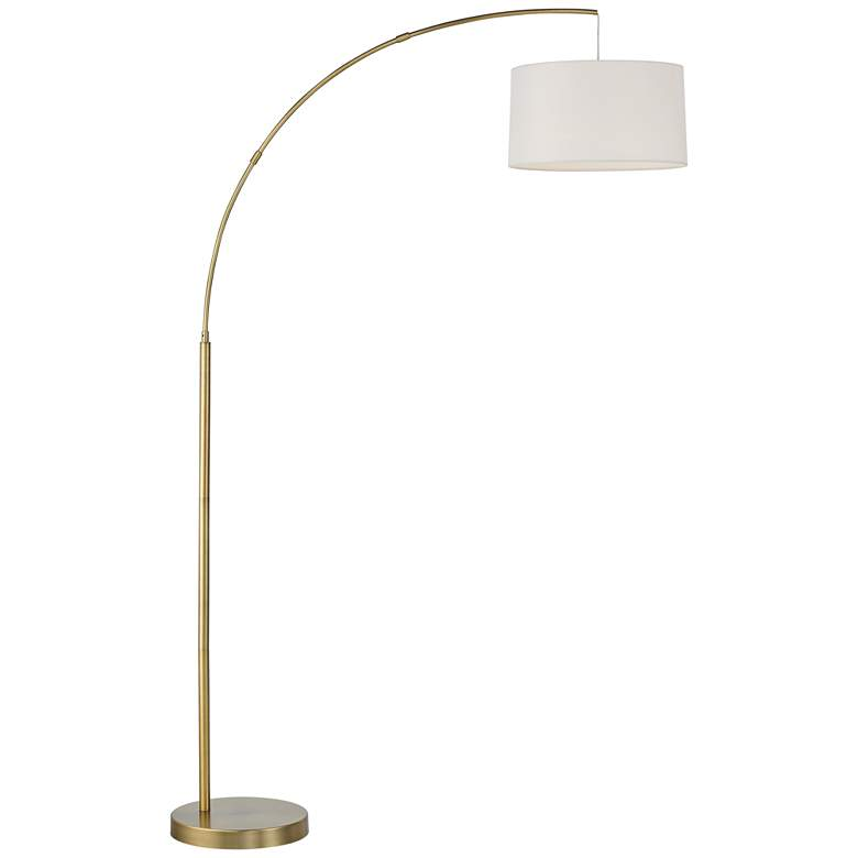Cora Brass Finish Metal Arc Floor Lamp