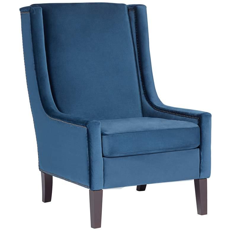 Kobi II Blue Velvet Accent Chair