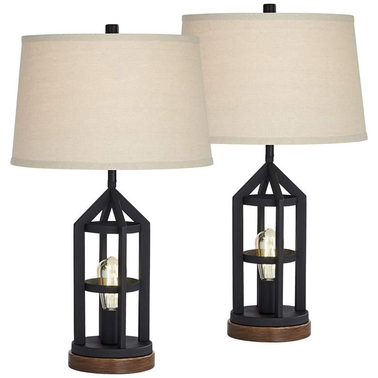 Lucas Bronze Night Light USB Table Lamps Set of 2