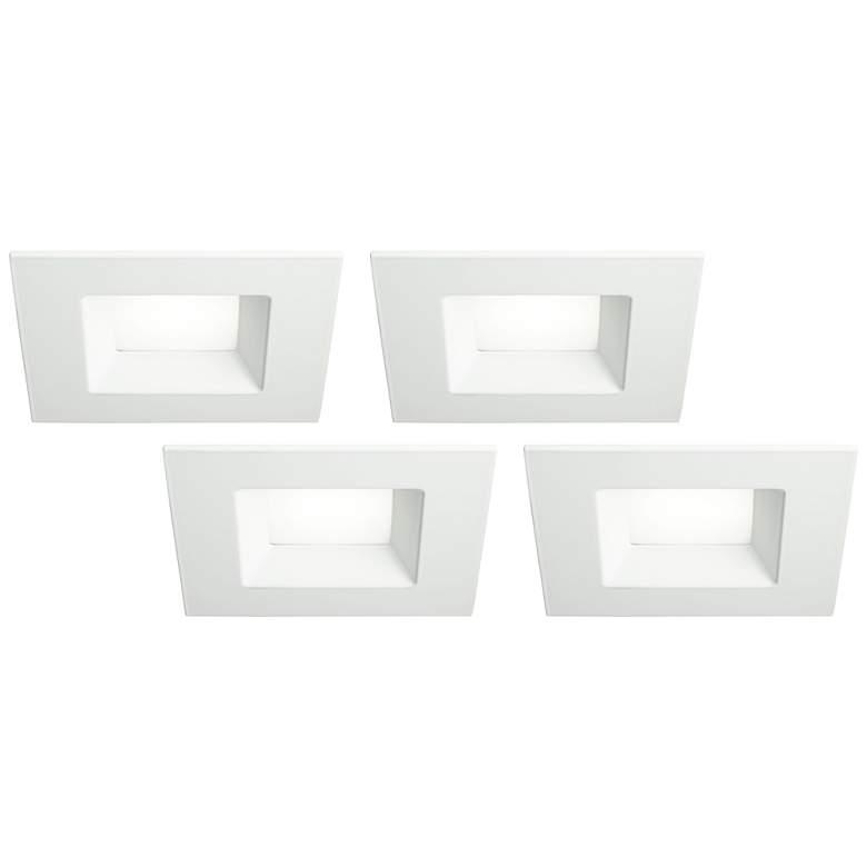 "6"" White Square Retrofit 15 Watt LED Recessed Lights 4-Pack"