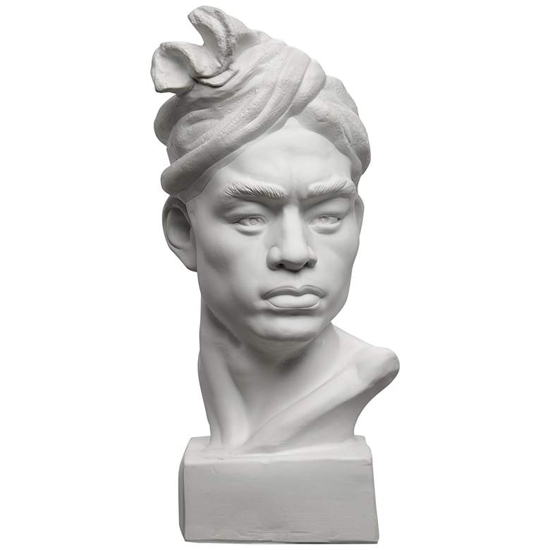 """Currey and Company Barbados 22"""" High Plaster Rough Bust"""