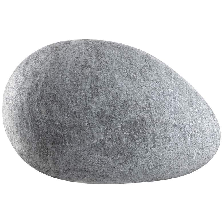 """Currey and Company Lingam 8"""" Wide Gray Egg Sculpture"""