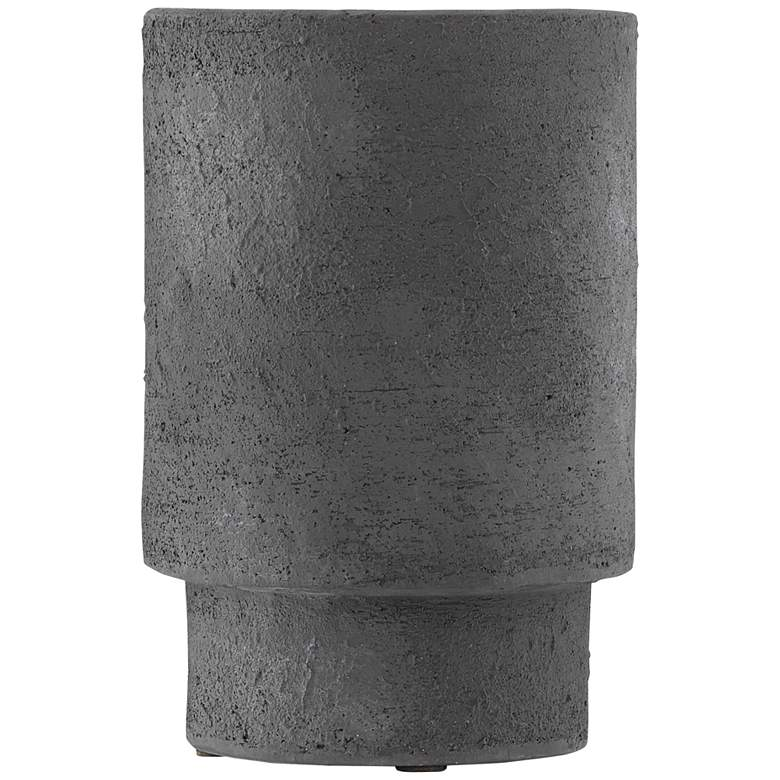 "Tambora Black Ash 12 1/2"" High Terracotta Decorative Vase"