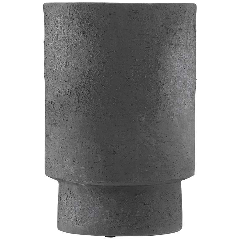"Tambora Black Ash 16 1/4"" High Terracotta Decorative Vase"