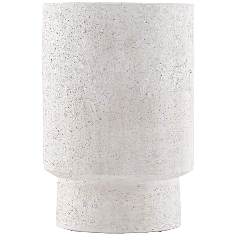 "Currey and Company Tambora Ivory 16 1/4""H Terracotta Vase"
