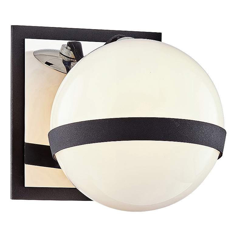 """Ace 5 1/2"""" High Carbide Black and Nickel Wall Sconce"""