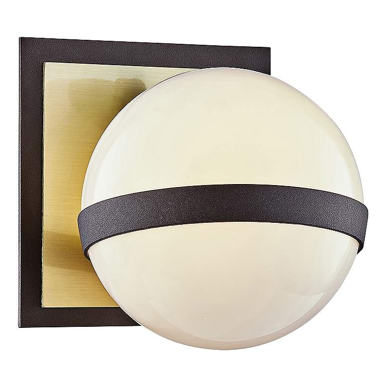 """Ace 5 1/2"""" High Bronze and Brushed Brass Wall Sconce"""