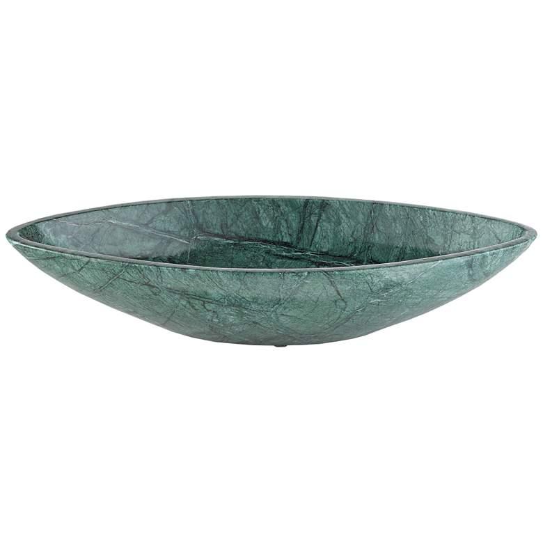 """Kalahari Empress Green 15 1/2"""" Wide Decorative Bowl"""