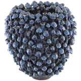 "Currey and Company Manitapi Dark Blue 11 1/2""H Ceramic Vase"
