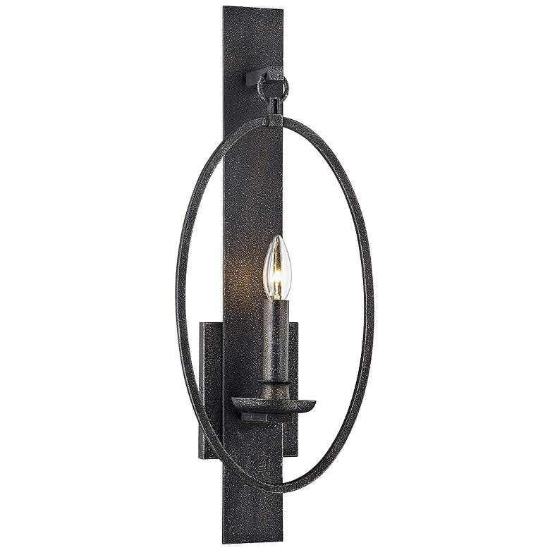 """Baily 23"""" High Aged Silver Metal LED Wall Sconce"""