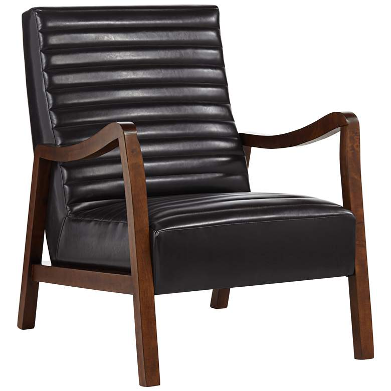 Columbe Modern Brown Faux Leather Lounge Chair