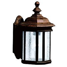 """Kirkwood Tannery Bronze 13"""" High Outdoor Wall Light"""