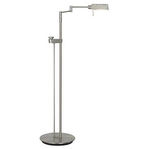 Holtkoetter Satin Nickel Contemporary Pharmacy Floor Lamp