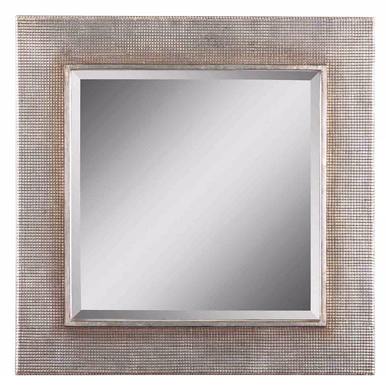 "Uttermost Afton Silver Champagne 34"" Square Wall Mirror"