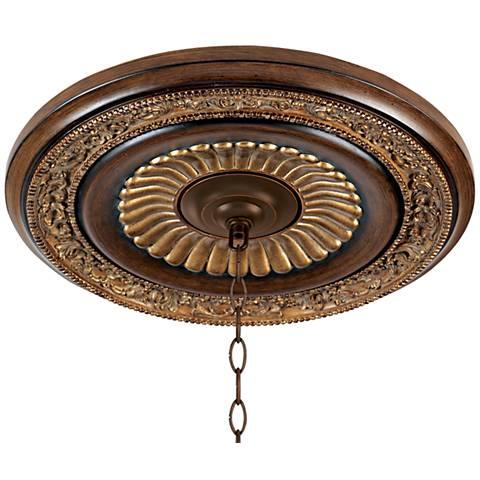 "Belcaro Collection 20 3/4"" Walnut Finish Ceiling Medallion"