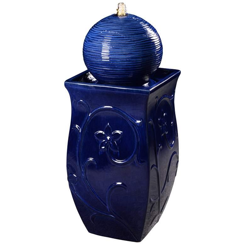 """Kenroy Home Breanne 33 1/4"""" High Cobalt LED Floor Fountain"""