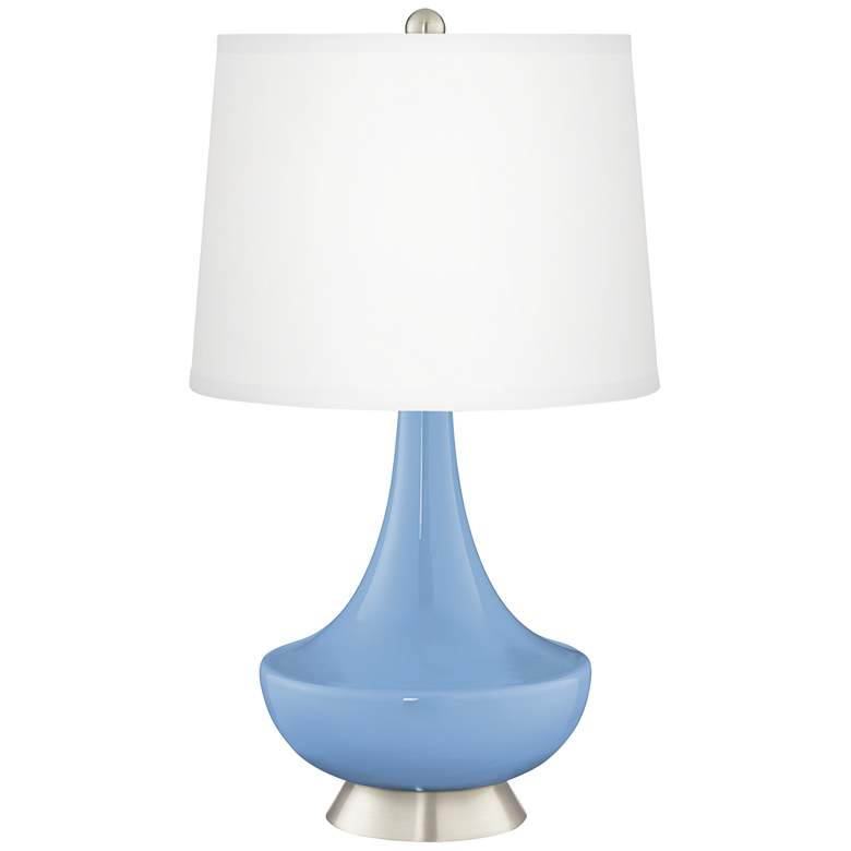 Placid Blue Gillan Glass Table Lamp with Dimmer