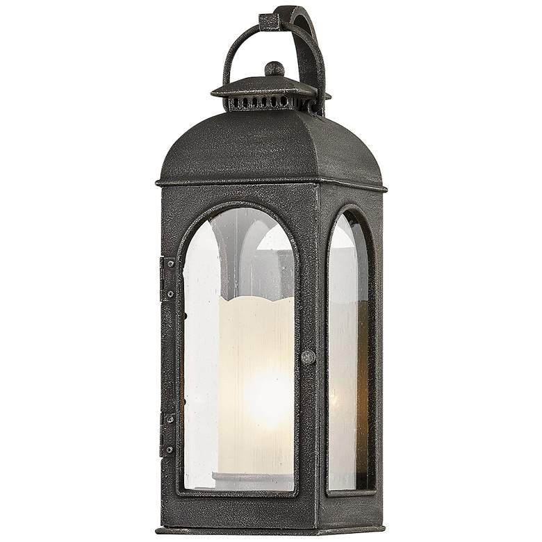 """Derby 17 1/2"""" High Aged Pewter Outdoor Wall Light"""