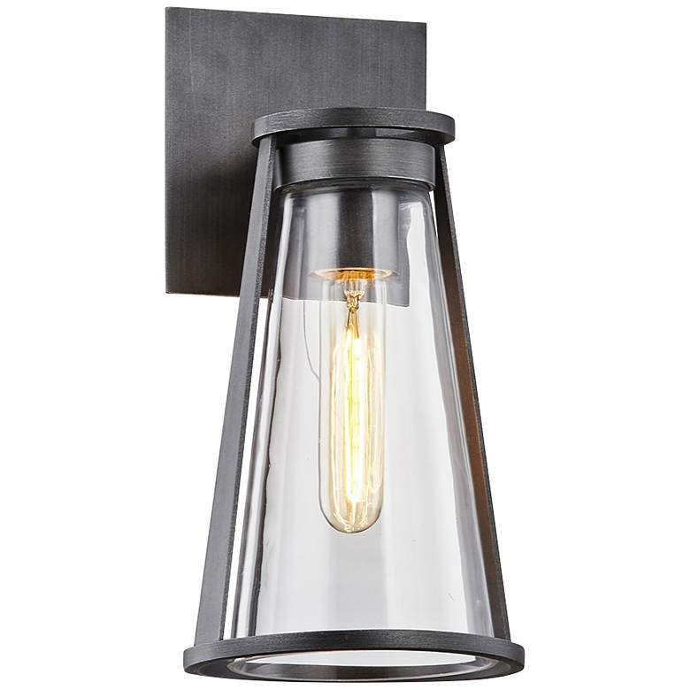 """Prospect 12"""" High Graphite Cone Outdoor Wall Light"""