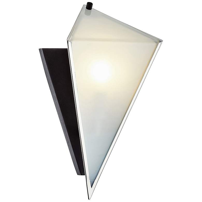 """Kite 13"""" High Carbide Black and Polished Nickel Wall Sconce"""