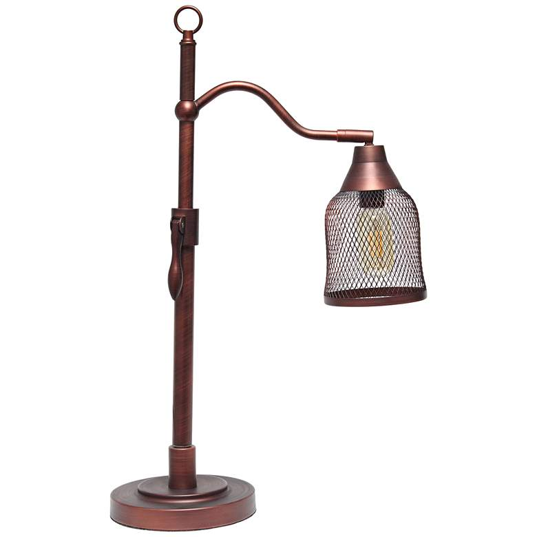 Lalia Home Red Bronze Arched Metal Adjustable Desk Lamp