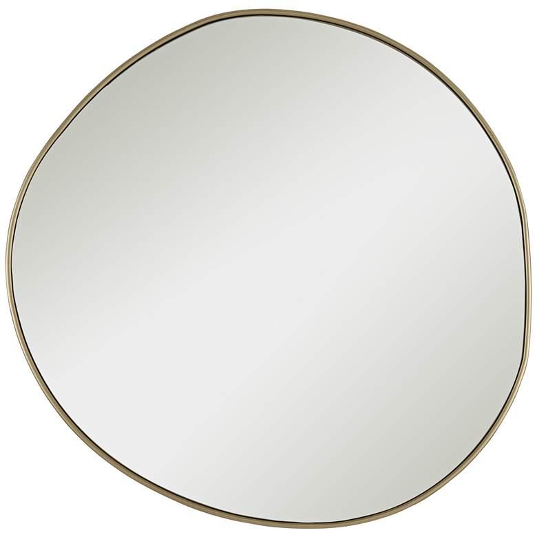"""Rorschach Champagne 30"""" Uneven Round Framed Wall Mirror"""