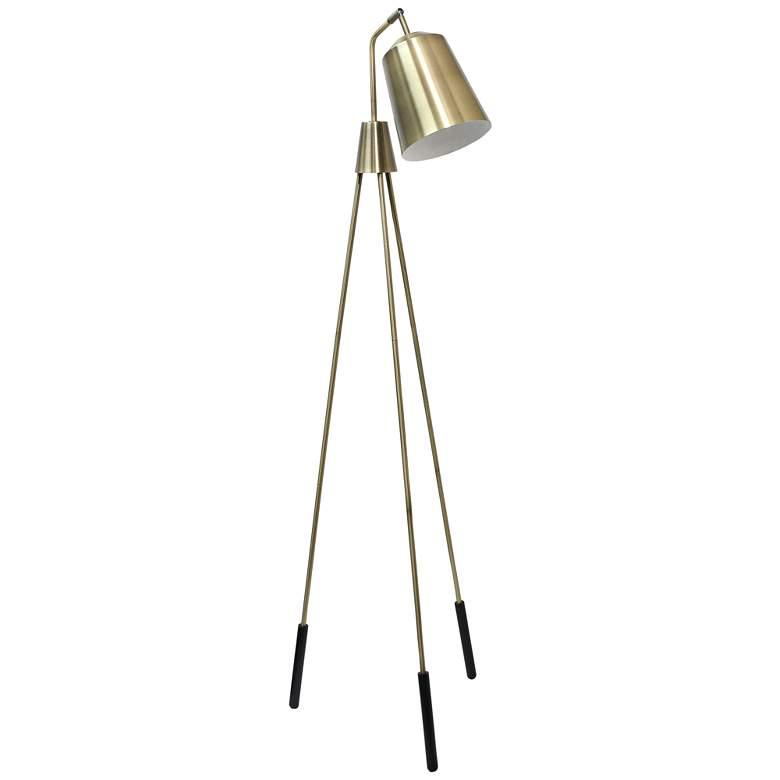 Lalia Antique Brass Tripod Floor Lamp