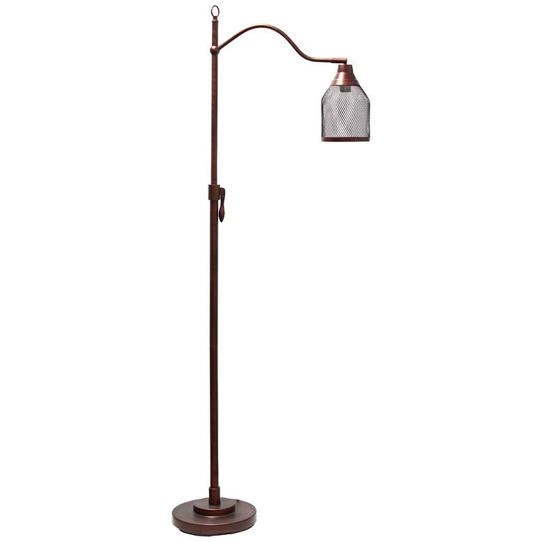 Lalia Red Bronze Arched Floor Lamp