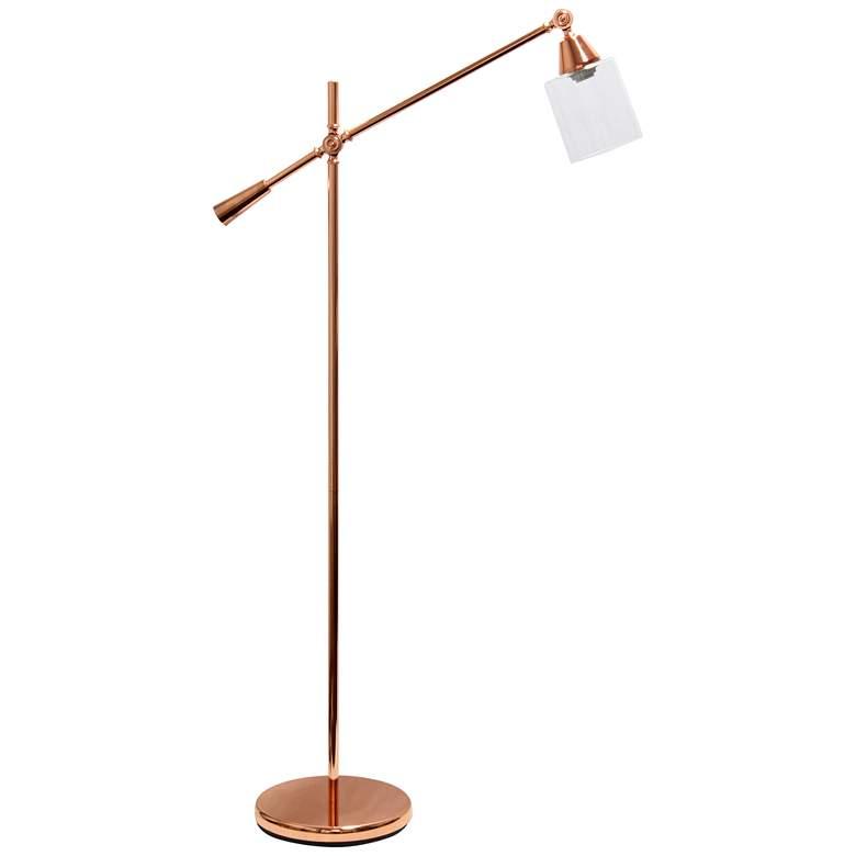 Lalia Rose Gold Adjustable Floor Lamp
