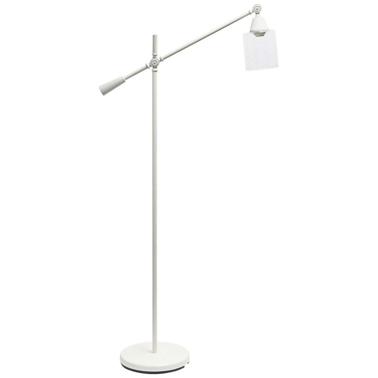 Lalia Matte White Adjustable Floor Lamp