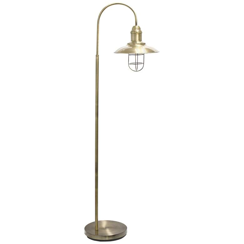 Lalia Antique Brass Arched Floor Lamp