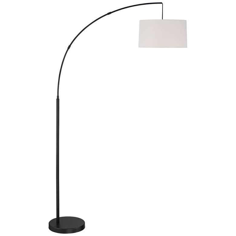 Cora Black Finish Modern Arc Floor Lamp by 360 Lighting