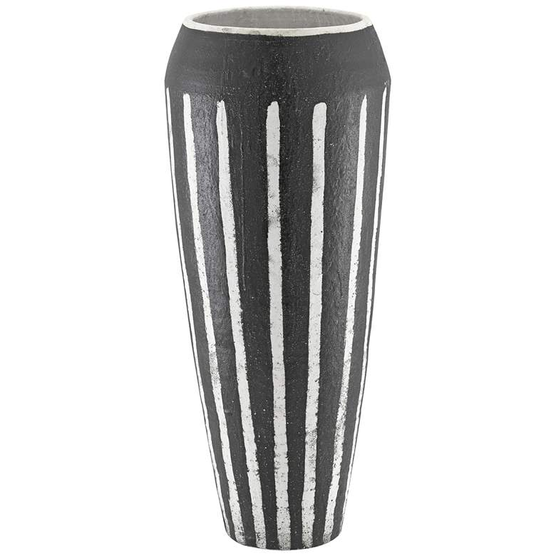 Currey and Company Chibuto Textured Black and White Urn