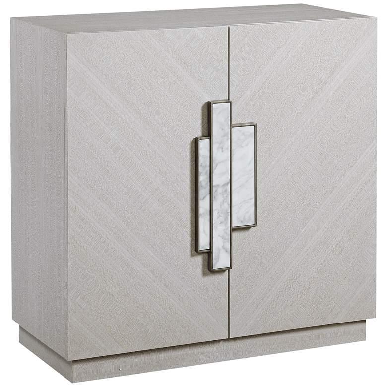 "Uttermost Viela 34"" Wide Soft Gray 2-Door Accent Cabinet"