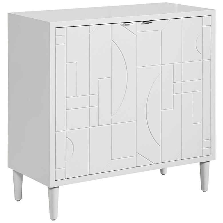 "Uttermost Kohana 34 1/4""W Gloss White 2-Door Accent Cabinet"